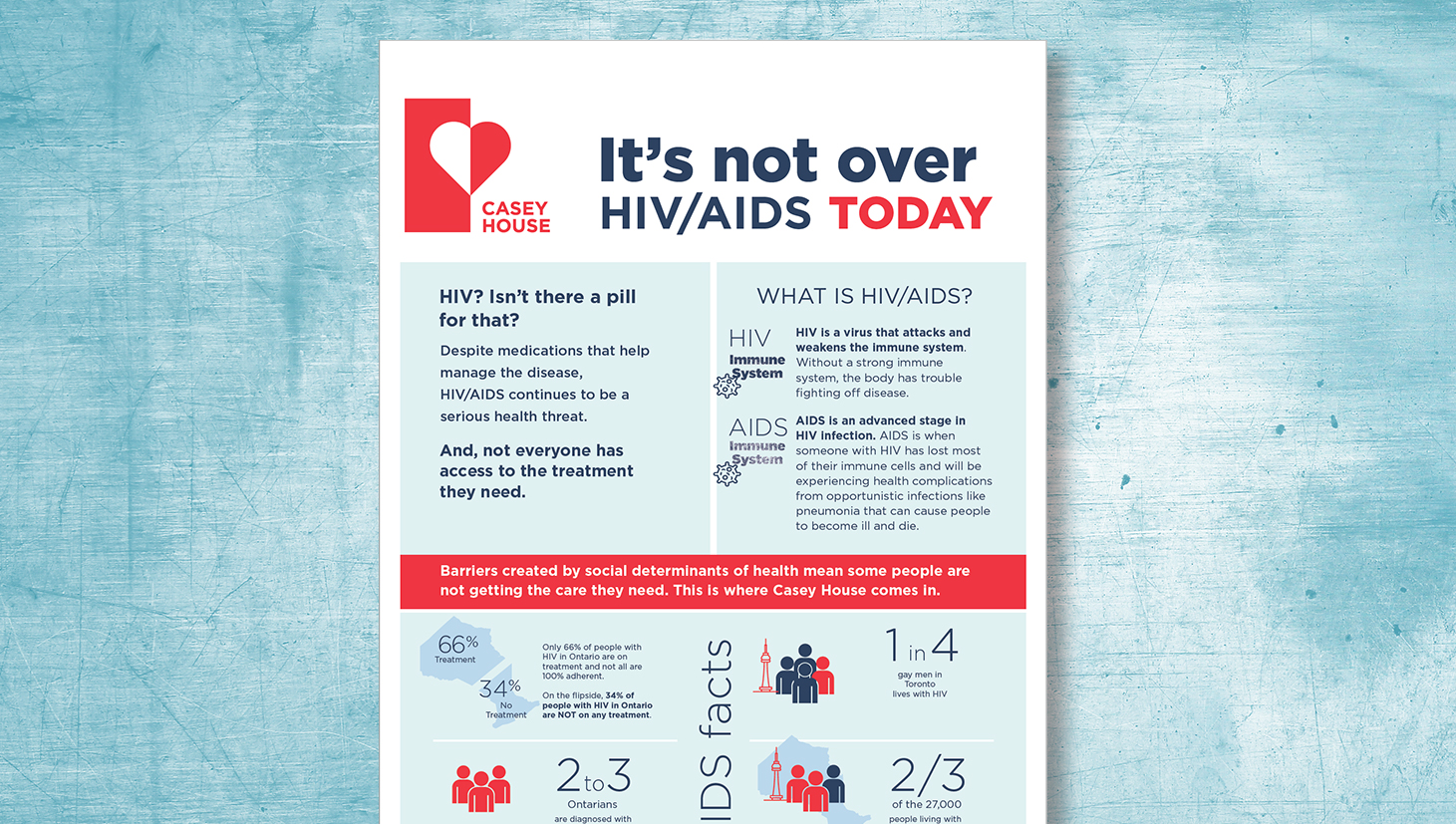 Image of infographic designed for Casey House in Toronto